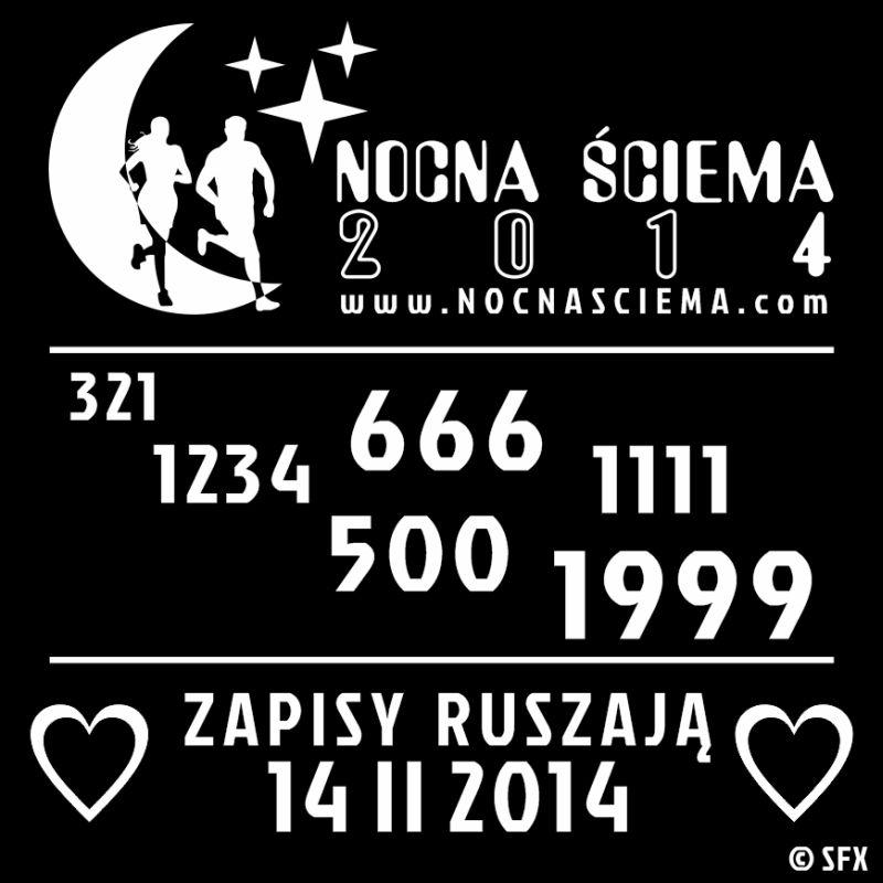 Nocna Sciema 2014 - zapisy rozpoczynamy w Walentynki
